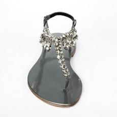 PRIMROSE Silver Crystal-embellished satin sandals