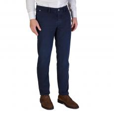 Mariotto Blue Cotton Regular-Fit Trousers