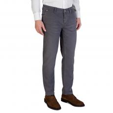 Mariotto Grey Cotton Regular-Fit Trousers