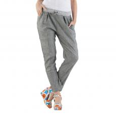 ALICE Grey Linen and Viscose Slim-Fit Chinos