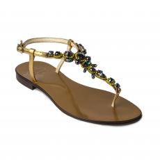 SAND with Black Crystals Embellished Sandals