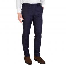 Tartan 100% SUPER 120'S Wool Regular-Fit Trousers
