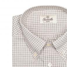GAGLIOPPO Brown Checkered Flannel Radici Patrimonio 1970 Shirt