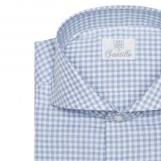 LORD CHESTERFIELD Blue Checkered Flannel Shirt