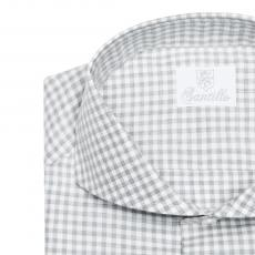 LORD CHESTERFIELD Grey Checkered Flannel Shirt