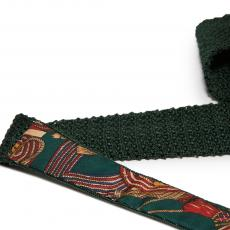 Forest Green Pure Silk Knitted Tie