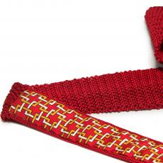 Imperial Red Pure Silk Knitted Tie