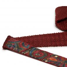 Oxblood Pure Silk Knitted Tie