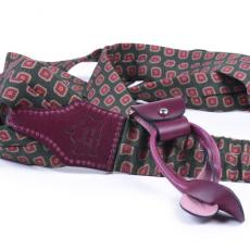 GREEN & OXBLOOD Wool and Leather Braces