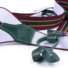 REGIMENTAL OXBLOOD Elastic Braces