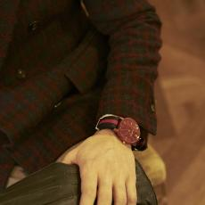 SOUL 40 BLUE/RED Sandalwood Unisex Watch