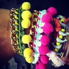 FOLK  Army/Sun Gold Plated Brass Chain Bracelet