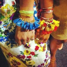 ALOHA HONOLULU Gold Plated Chain Bracelet