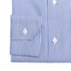 MIDTOWN Blue Pin Stripes Double Twisted Cotton Shirt