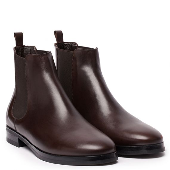 9931a5618d0 GIANLUCA GALLO Moscova Dark Brown Leather Chelsea Boots