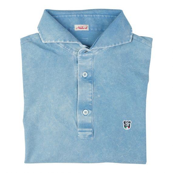 LIMITED EDITION Denim Piqué Cotton Polo Shirt