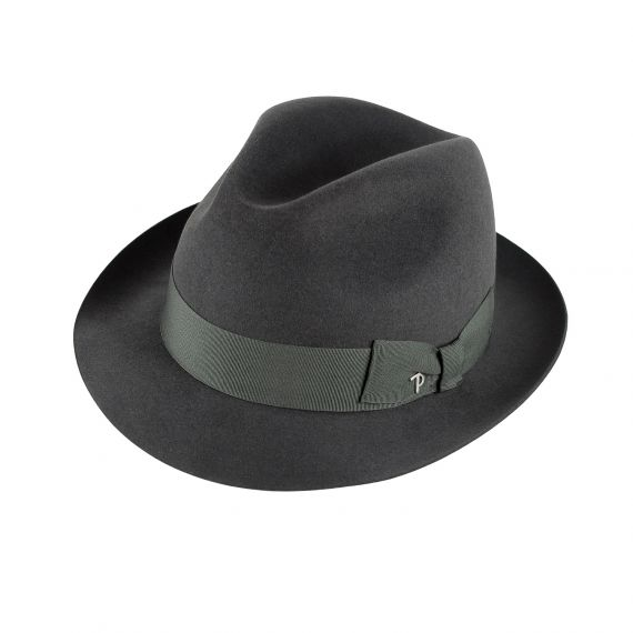 PANIZZA Menswear Hat Made in Italy Roma Fedora Grey  a9b58a52b43