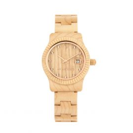 AB AETERNO ALBA Natural Maple Wood Watch