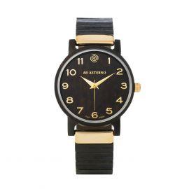 AB AETERNO FENIX BLACK 40 Ebony Wood Unisex Watch