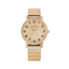 AB AETERNO FENIX WHITE 35 Maple Wood Unisex Watch