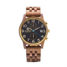 AB AETERNO NUX Walnut Wood Man Chrono Watch