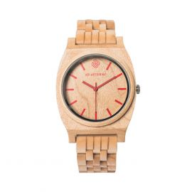 AB AETERNO ROUTE RED Maple Wood Unisex Watch