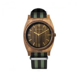 AB AETERNO JOURNEY GOLD Walnut Wood Unisex Watch
