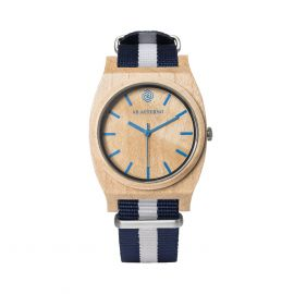 AB AETERNO ROUTE BLUE Maple Wood Unisex Watch