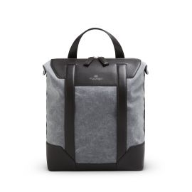 ADRIANO MENEGHETTI BRERA Dark Brown and Blue Tote/Backpack