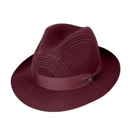 ALFIERI Bordeaux Felt Hat