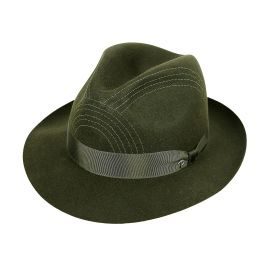 ALFIERI Dark Green Felt Hat
