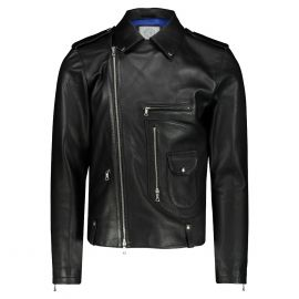 ATACAMA James Black Genuine Goatskin Leather Biker Jacket