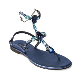 AZURE High with Blue Crystals Embellished Sandals
