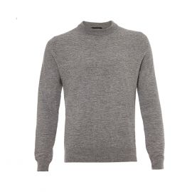 BALLANTYNE 1921 Grey Round-Neck Pullover