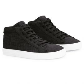 CROCO Black White High Top Sneakers