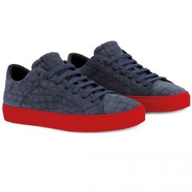 CROCO Blue Red Low Top Sneakers