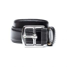 BUTTERO Black leather belt