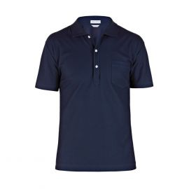 COAST SOCIETY Arturo Blue Egyptian Cotton Honeycomb Polo Shirt