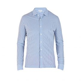 COAST SOCIETY VITTORIO Blue Stripes Shirt
