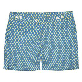 COAST SOCIETY NICKY Bauhaus Blue Yellow Swimshort
