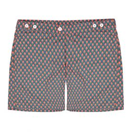 COAST SOCIETY NICKY Bauhaus Grey Red Swimshort
