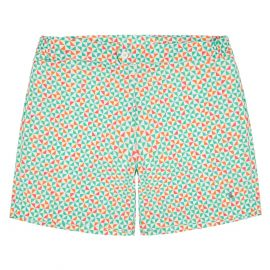 COAST SOCIETY PORFIRIO Bauhaus Green Orange Swimshort