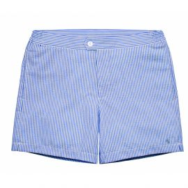 COAST SOCIETY PORFIRIO Blue Seersucker Swimshort