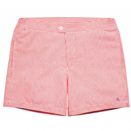 PORFIRIO Red Seersucker Swimshort