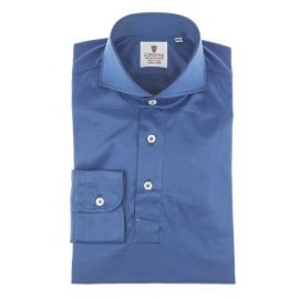 CORDONE 1956 Blue Cotton Jersey Polo Shirt