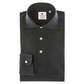 CORDONE 1956 Blue Jersey Polo Shirt