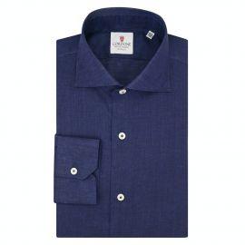 CORDONE 1956 Blue Linen Shirt