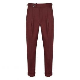 CORDONE 1956 Bordeaux Flannel Trousers