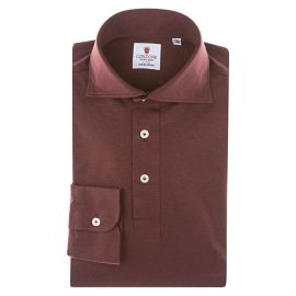 CORDONE 1956 Bordeaux Jersey Polo Shirt