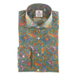CORDONE 1956 Formentera Multicolor Printed Cotton Limited Edition Shirt